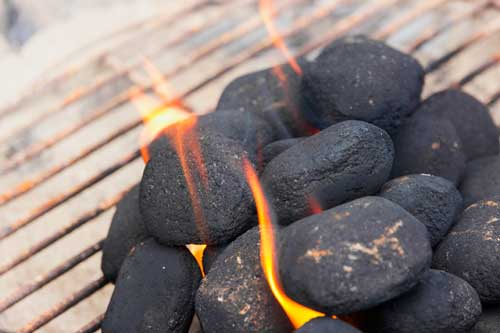 Charcoal for grilling on the barbecue